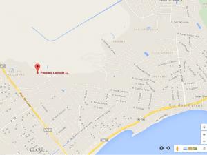 Clique no mapa para ver as coordenadas do Google Maps